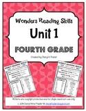 Wonders Reading Unit 1 Skill, Vocab, and Spelling List (4th grade)