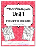 Wonders Reading Unit 1 Skill, Vocab, and Spelling List (4t