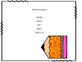 Wonders Reading Unit 1 Week 1 Reinforce Vocabulary