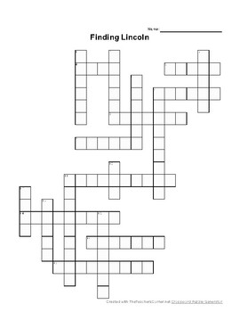 Wonders Reading Unit 3 Crosswords - Martina, Lincoln, Earth, Big Ideas, Riding
