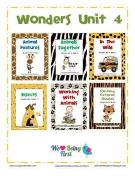Wonders (2014) Reading Unit 4 Binder Cover