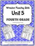 Wonders Reading Unit 5 Skill, Vocab, and Spelling List (4t
