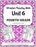 Wonders Reading Unit 6 Skill, Vocab, and Spelling List (4t