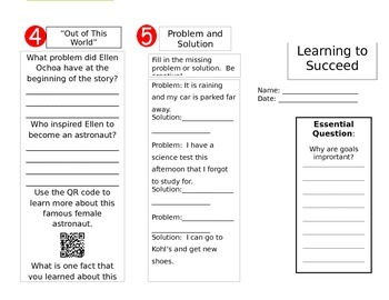 Wonders Reading Unit 6 Week 3 Trifold