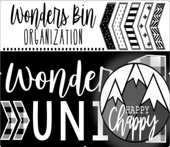 Wonders Reading Unit Bin Organization (Modern Farmhouse)