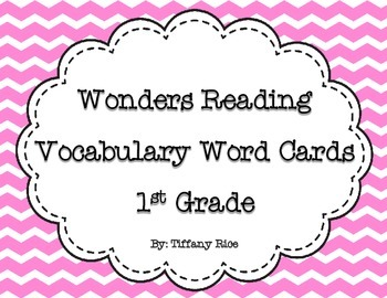 Wonders Reading Vocabulary Cards 1st Grade