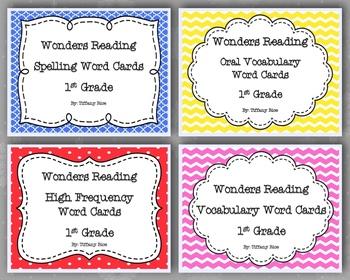 Wonders Reading Word Card Bundle