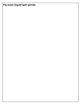 Wonders Reading Word Wall Folder
