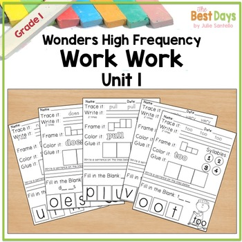 Wonders Reading  Grade 1 Word Work:  Unit 1