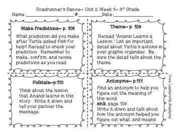 Wonders Reading Your Turn Fan-tas-tic Four~ Unit 2 Week 1~5 3rd Grade