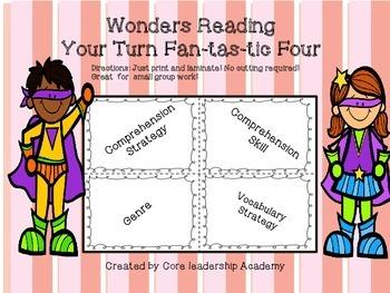 Wonders Reading Your Turn Fan-tas-tic Four~ Unit 3 Week 1~5 4th Grade