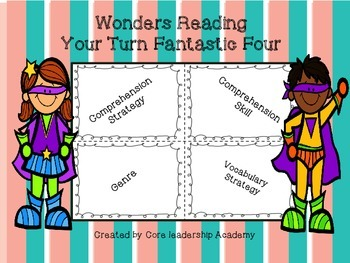 Wonders Reading Your Turn Fan-tas-tic Four~ Unit 4 Week 1~5 3rd Grade