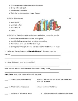 Wonders Reading and Vocabulary Assessment Unit 3 Week 2: Finding Lincoln