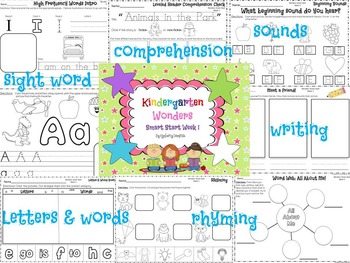 Wonders Reading for Kindergarten Smart Start BUNDLE Extension Activities
