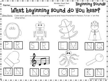 Wonders Reading for Kindergarten Smart Start Week 2 Extension Activities