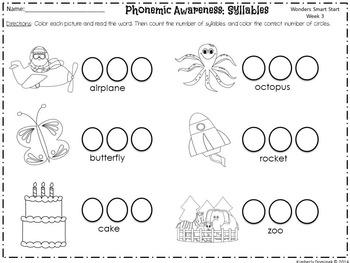 Wonders Reading for Kindergarten Smart Start Week 3 Extension Activities