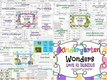 Wonders Reading for Kindergarten UNIT 10 BUNDLE Extension Activities!