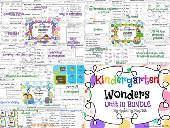 Wonders Reading for Kindergarten UNIT 10 BUNDLE Extension