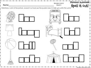 Wonders Reading for Kindergarten UNIT 6 BUNDLE Extension Activities!