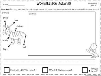 Wonders Reading for Kindergarten: Unit 1 Week 3 Extension Activities