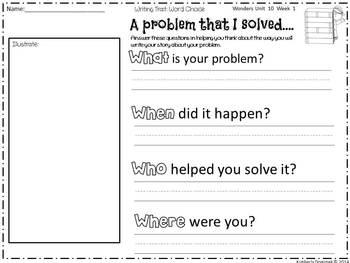 Wonders Reading for Kindergarten: Unit 10 Week 1 Extension Activities
