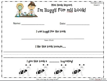 Wonders Reading for Kindergarten: Unit 2 Week 3 Extension Activities
