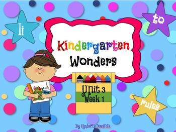 Wonders Reading for Kindergarten: Unit 3 Week 1 Extension Activities