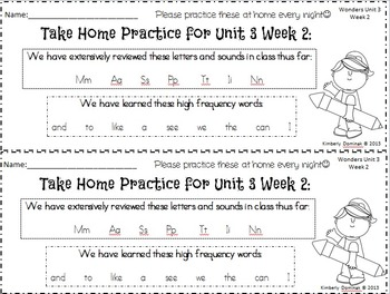 Wonders Reading for Kindergarten: Unit 3 Week 2 Extension Activities
