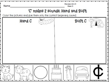 Wonders Reading for Kindergarten: Unit 3 Week 3 Extension Activities
