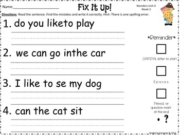 Wonders Reading for Kindergarten Unit 4 Week 3 Extension Activities