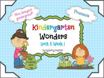 Wonders Reading for Kindergarten: Unit 5 Week 1 Extension Activities