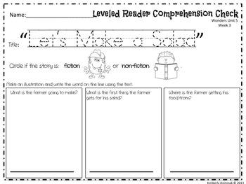 Wonders Reading for Kindergarten: Unit 5 Week 3 Extension Activities
