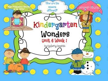 Wonders Reading for Kindergarten: Unit 6 Week 1 Extension Activities