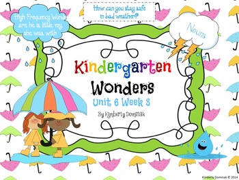 Wonders Reading for Kindergarten: Unit 6 Week 3 Extension Activities