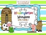 Wonders Reading for Kindergarten: Unit 7 Week 1 Extension Activities