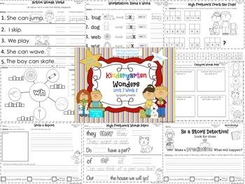 Wonders Reading for Kindergarten: Unit 7 Week 2 Extension Activities