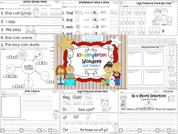 Wonders Reading for Kindergarten: Unit 7 Week 2 Extension Activities