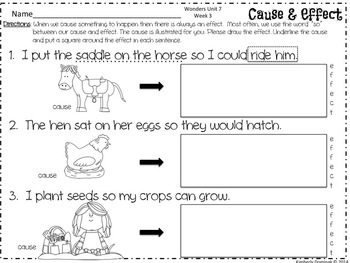 Wonders Reading for Kindergarten: Unit 7 Week 3 Extension Activities