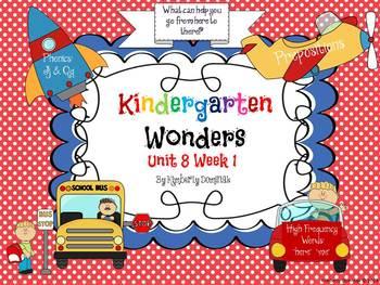 Wonders Reading for Kindergarten: Unit 8 Week 1 Extension Activities