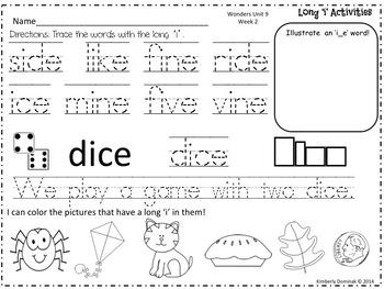 Wonders Reading for Kindergarten: Unit 9 Week 2 Extension Activities