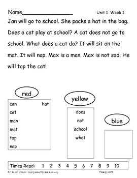 Wonders Repeated Readings Grade 1
