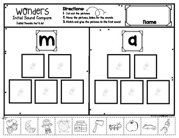 Wonders Review Comparisons & Sound Sorts for Kindergarten All Units