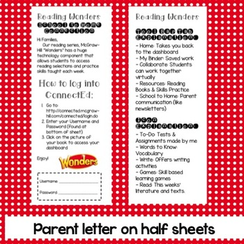 Wonders School to Home Letter