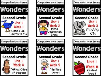 Wonders Second Grade BUNDLE UNIT 1 WEEKS 1-6 Worksheets/Centers