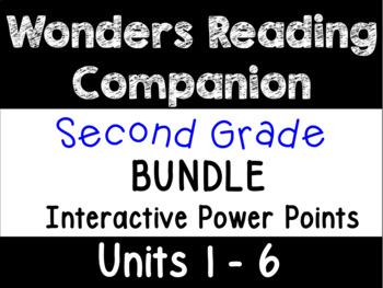 Wonders Second Grade BUNDLE Units 1-6 Power Points