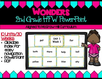 Wonders- Second Grade High Frequency Word PowerPoint