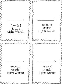 Wonders Second Grade Sight Words Self-Tracking