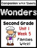 Wonders Second Grade Unit 1 Week 5 Families Work Centers