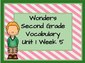 Wonders 2nd Grade Unit 1 Week 5 Vocabulary Powerpoint Slideshow