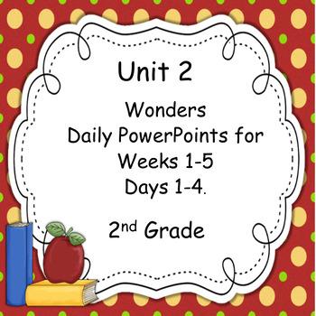 Wonders Second Grade Unit 2 Presentations
